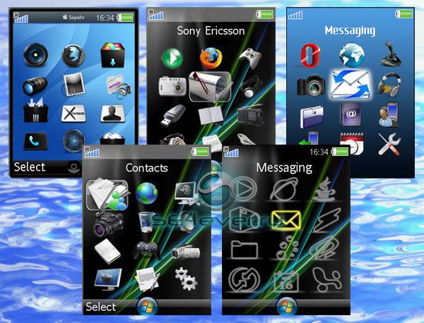 В архиве находятся 5 измененных меню для Sony Ericsson K790, K800, K810 + в