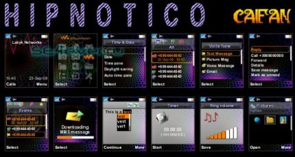 Hipnotico - Theme & Flash Menu For Sony Ericsson [128x160]