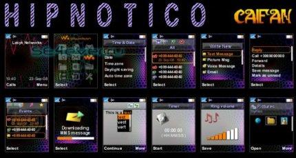 Hipnotico - Theme & Flash Menu For Sony Ericsson [128x160]