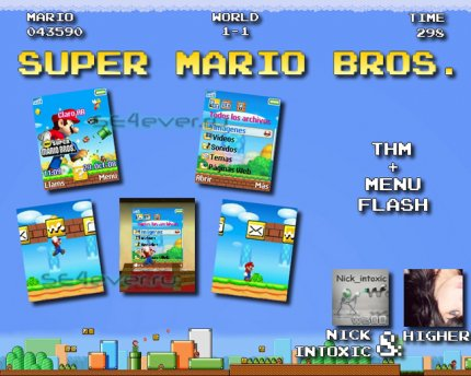 Super Mario Bros - Theme & Flash Menu For SE [128x160]