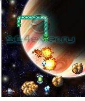 Snake deluxe in space-Java игра