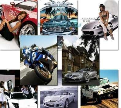 Коллекция картинок-современные авто и мото 240x320