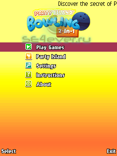 Party Island Bowling - java игра
