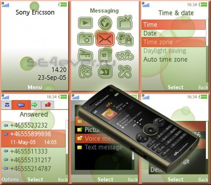 Earth - Flash Theme 2.1 for Sony Ericsson
