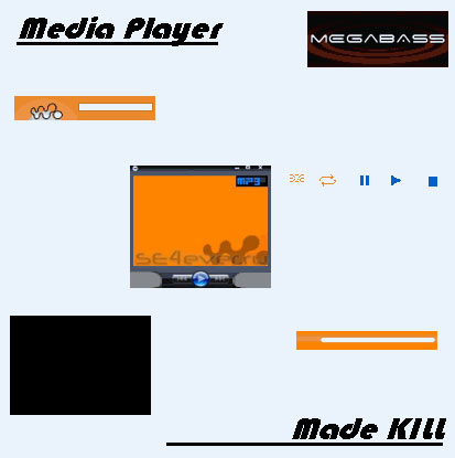 Media player - Skin for Walkman 1.0 Sony Ericsson 128x160