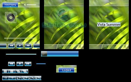Vista Summer - Skin for KD Player 128x160