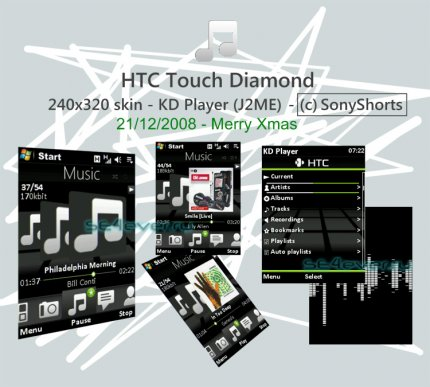 HTC Touch Diamond - Skin for KD Player 240x320