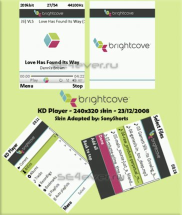 Bright Cove - Skin for KD Player 240x320