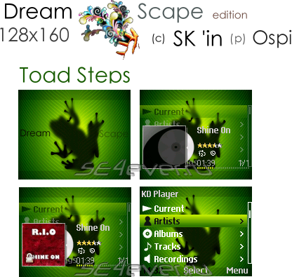 DS ToadSteps - Skin for KD Player 128x160