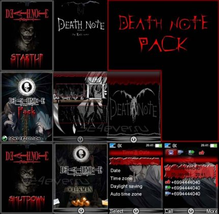 DeathNote - Mega Pack For SE 128x160