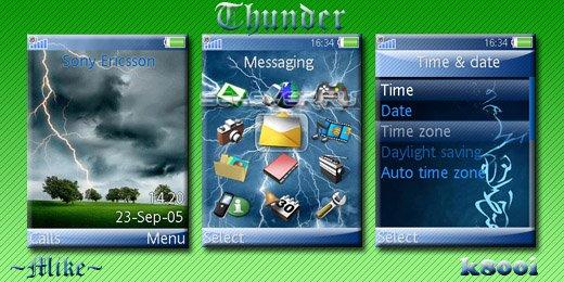 Thunder - Тема для Sony Ericsson [320х240]