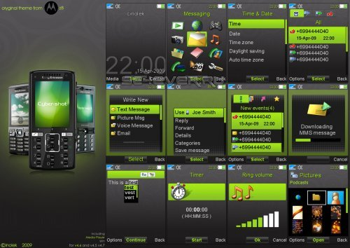 SE8 Black - Тема для Sony Ericsson [240x320]