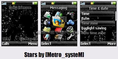 Stars - Тема для Sony Ericsson 128x160