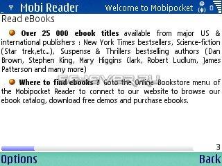 Mobipocket Reader v5.2.550 - приложение для UIQ3