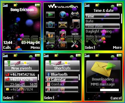 Entertainment Unlimited - Тема с флэш меню для SE 128x160