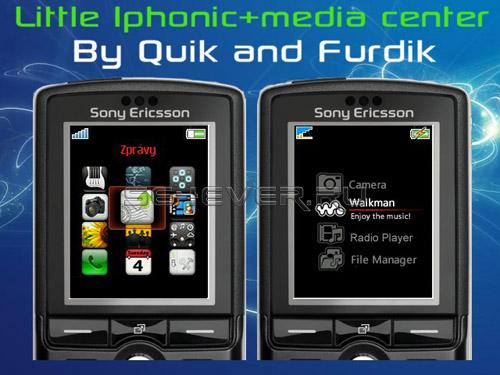 Little iPhonic - Изменённое меню для Sony Ericsson K750 / W800