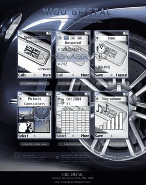GMetal - тема для Sony Ericsson 176х220