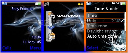 Wonder - Тема с флеш меню для Sony Ericsoon 176x220