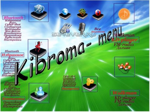 Kibroma Menu K550i - Menu Icons for Sony Ericsson 176x220