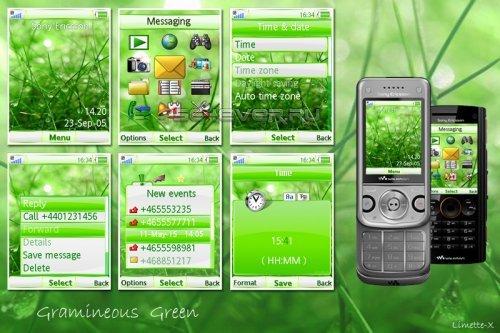 Gramineous Green - Тема для Sony Ericsson 240x320 А200