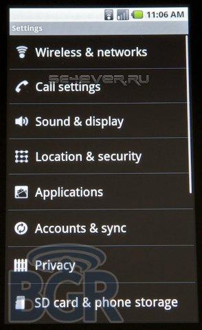 Первые скриншоты и подробности новой мобильной ОС Android 2.0