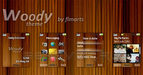 Woody - Тема ля Sony Ericsson 128x160
