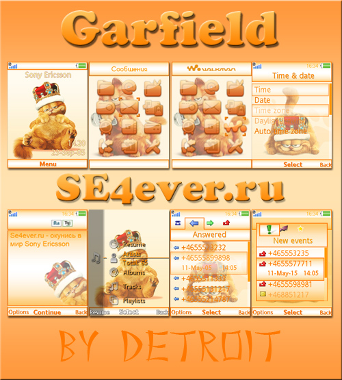 Garfield - Flash theme for SE Flash Lite 2.0