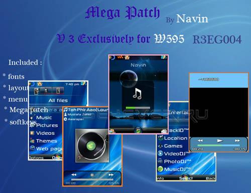Mega Pack For Sony Ericsson W595 R3EG004