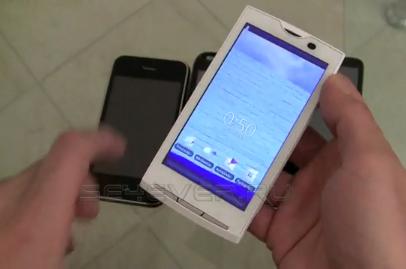 Видео сравнение Sony Ericsson XPERIA X10 с HTC HD2, Samsung Omnia II и iPhone 3GS
