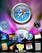 Mac os Leopard - Тема с флэш меню для Sony Ericsson 176x220
