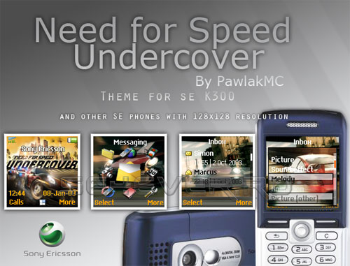 Need For Speed Undercover - Theme For SE K300