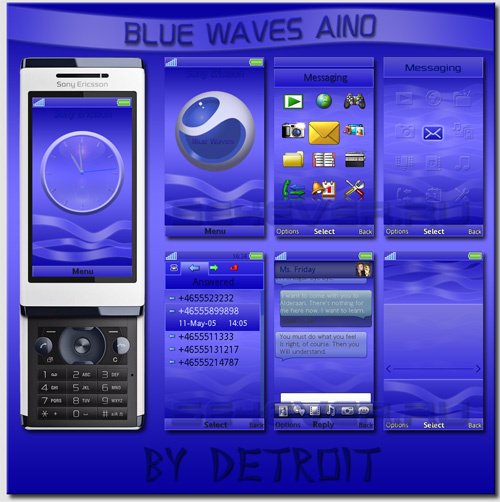 Blue Waves Aino beta - MegaPack for Sony Ericsson Aino/U10i