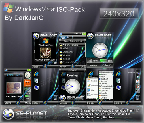 Windows Vista Ultimate ISO-Pack For Sony Ericsson 240x320