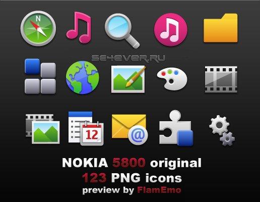 5800 Icons