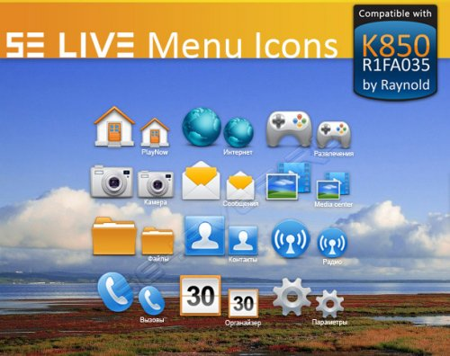 SE LIVE Menu Icons For Sony Ericsson K850