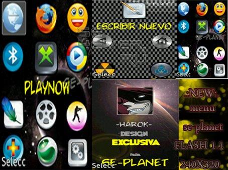 HOMENAJE - Flash Theme For Sony Ericsson 240x320
