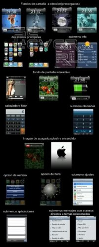iphone 3g - Flash menu 176x220