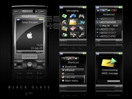 Black Glass - Тема для Sony Ericsson 240х320
