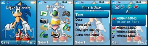 Sonic Blue - Тема для Sony Ericsson 176x220