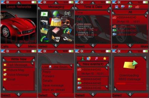 Ferrari GTB - Тема для Sony Ericsson 240x320