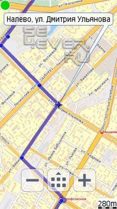 Мобильные Яндекс. Карты для Sony Ericsson Vivaz, Satio...