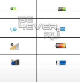 4 Графических патчей батарейки и сигнала для Sony Ericsson W595 R3EF001