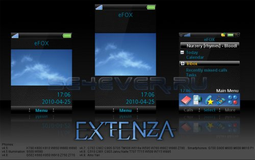 EXTENZA - Темы для Sony Ericsson