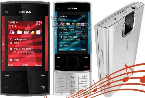 New Nokia X3 Ringtones