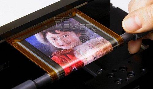 Прототип гибкого дисплея от Sony