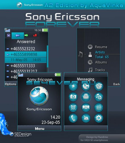 Sony Ericsson Forever - Flash Theme For Sony Ericsson A200