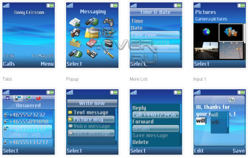 X10 - Тема для Sony Ericsson 176x220
