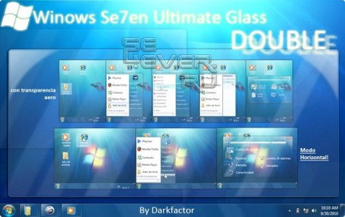 Windows 7 Ultimate Glass - Тема с флэш меню FL 1.1 240x320