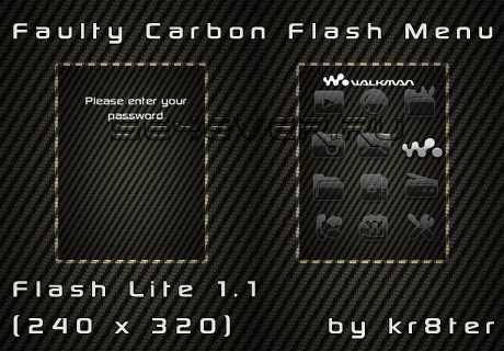 Faulty Carbon - Flash Theme For Sony Ericsson FL 1.1 240x320