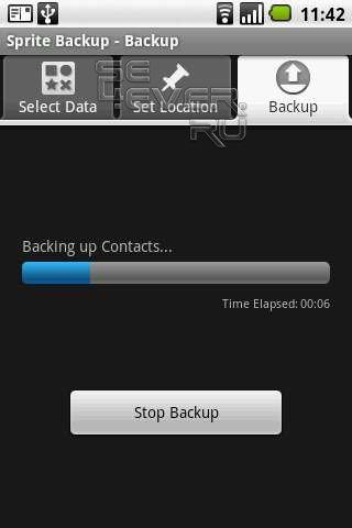 Sprite Backup – резервное копирование данных на Android